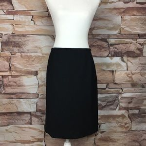 Armani Collezioni Virgin Wool Black Pencil Skirt